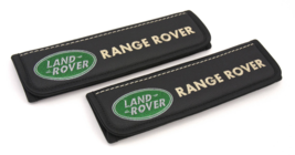 Range Rover seat belt covers Leather shoulder pads Accessories with emblem - $35.00