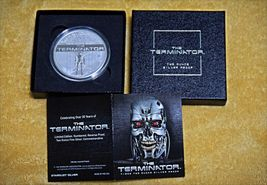 Terminator T-800 2 Oz .999 Silver Proof Round With COA & Individually Numbered image 10
