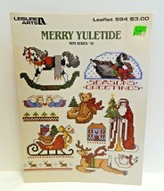 Merry Yuletide Counted Cross Stitch Patterns Leisure Arts Leaflet 594 1988 - $1.99