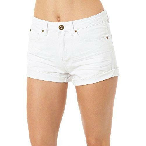 O'Neill Junior Women's Shorts Phoebe Cuffed Denim Walk Short White