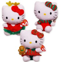 Ty Hello Kitty Christmas Beanie Baby Collection -- Set of 3 Plush - $27.58