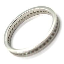 Ring Weißgold 750 18K, Eternity Binär , Dicke 3 mm, Zirkonia Kubische image 2