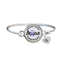 Custom Stomach Cancer Awareness Believe Silver Bracelet Jewelry Choose I... - $13.80+