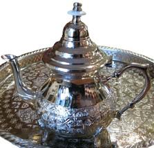 Moroccan Tea pot - Silver plated teapot - Tea pot silver - Silver plate ... - $65.00