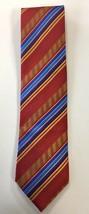 DANIEL DE FASSON Red Gold Blue Mens Necktie EUC 57 in Long 100% Silk - $59.34