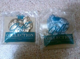 Avon Gift collection lot set 2 cherub reflections magnets blue gold cupi... - $9.99