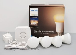 Philips Hue 471986 White Ambiance Smart Bulb Starter Kit (4 A19 Bulbs and 1 Hub) - $70.99