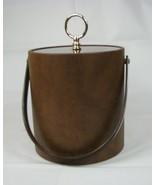 Vintage Bucket Brigade Ice Bucket Brown Morgan Design Boston MCM Barware - $19.79