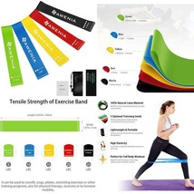 5x Resistance Loop Bands Set Crossfit Fitness Exercise Yoga Workout Pull... - $19.37