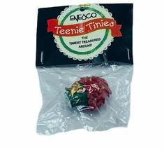 Enesco Teenie Tinies Treasure SEALED miniature figurine ornament 1998 poinsettia - $16.35