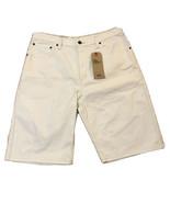 Levi's Men's 569 Loose Straight Shorts White - Bull Denim Stretch 34 - NWT - $22.80