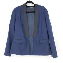 Banana Republic Femmes Taille 14 Texturé Smoking Blazer Bleu Marine Noir... - $38.91