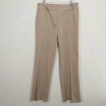 STUDIO 1940 Womens Beige Stripe Pants Size 12 (32 Inseam) Stretch Trousers - $16.90