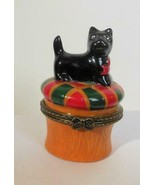 Scottish Terrier Dog Ceramic Trinket Box Surprise Inside - $15.00