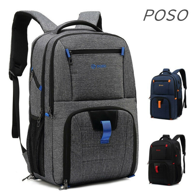 "Primary image for POSO® Backpack Laptop 17"",17.1"",17.3"" Case Notebook Nylon Bag Travel School Bag"