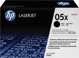 HP 05X CE505X Black Toner Cartridge Yields 6500 Pages For P2055D P2055DN... - $185.08