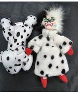 Walt Disney Store Cruella De Ville Beanie Baby Plush 101 Dalmatians Dalm... - $18.99