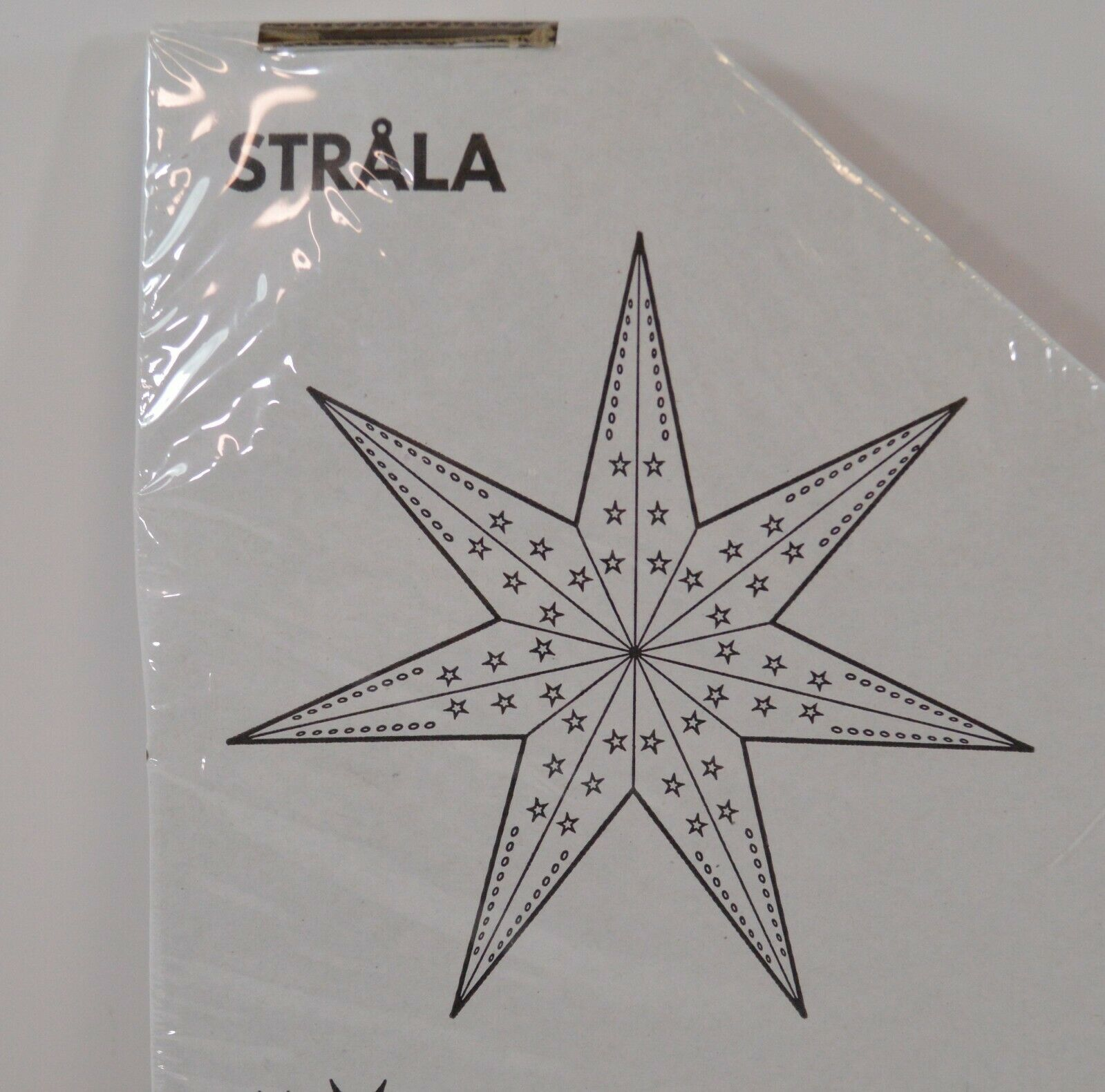 "IKEA Strala Star Pendant Lamp Shade Hanging WHITE 28"" NEW Home Decor 002.659.91"