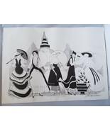 The Masquerade Serie Lithographie Aufdruck Nummeriert Myra Elizabeth Par... - $51.12