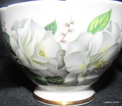 Royal Stafford Camellia Small Open Sugar Bowl Gold Gilt Trim Made in Eng... - $29.65