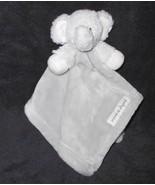 Blankets Beyond Elephant Baby Security Blanket Lovey Solid Grey Nunu - $24.73