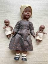 Vintage Hong Kong-made Black Dolls (set of 3)