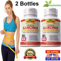 GARCINIA CAMBOGIA MAX 95% HCA SLIM FAT BURNER WEIGHT LOSS DIET SUPPLEMEN... - $22.27