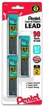 Pentel C27BPHB3K6 Super Hi-Polymer Lead Refills, 0.7mm, HB, Black, 30 pe... - $6.64