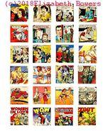 romance comics art collage sheet 1.5 inch squares clip art digital downl... - $2.40