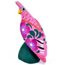 Handmade Alebrijes Oaxacan Copal Wood Carving Painted Folk Art Quail Bird Figure