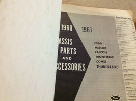 1961 Ford Falcon Frontenac Thunderbird Chassis Teile & Zubehör Manuell Set image 3