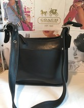 Coach 9966 Black/Nickel Legacy Zip Hobo Cross-Body Bag Glove-Tanned Leat... - $65.55