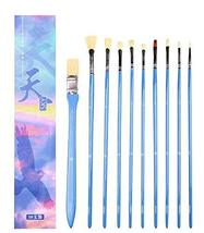 10pcs Professional Paint Brushes Artist for Watercolor Oil Acrylic Painting - £20.18 GBP