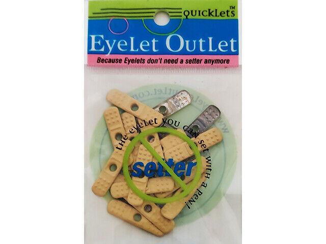 Eyelet Outlet Bandaid Quicklets (Flat Brads), 20 Count
