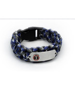 Paracord Medical ID Survival Bracelet with Raised emblem. Free medical C... - $34.99