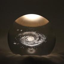 GALAXY STARRY MOON music box astrology crystal ball lunar decor space li... - $63.46