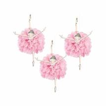 Ballerina Tissue Pom Pom Hanging Decorations Pink & Gold Swirls Garland ... - $10.84
