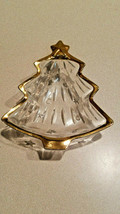 Vintage Studio Nova Glass Gold Trim Christmas Tree Candy Dish Bowl - $5.89