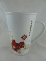 Starbucks Coffee Holiday Christmas Scene Red Town Large Cup Mug 22 oz 2013 - $15.83