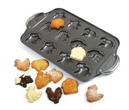 Norpro 3967 Animal Farm Cookie Candy Pan 12 Molds Nonstick - €21,61 EUR