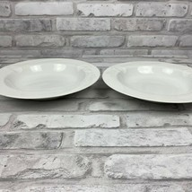 Mikasa Calla Lily Soup Cereal Bowl Classic Flair White Lot of 2 K1991 - $22.58