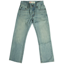 Levi's Boys 505 Straight Fit Jeans Denim Anchor Pockets Levis 26x26 12 Regular - $18.76