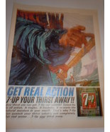 Vintage Get Real Action 7-UP Your Thirst Away Print Magazine Advertiseme... - $9.99