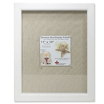 Lawrence Frames Shadow Box Frame with Linen Inner Display Board, 11 by 1... - $26.39