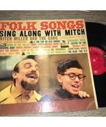 FOLK SONGS SING ALONG WITH MITCH MITCH MILLER VINYL LP ALBUM 1959 COLUMB... - $4.99