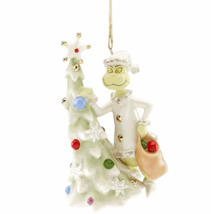 Lenox Sneaky Grinch Ornament Dr Seuss Who Stole Christmas Tree Gift NEW - $99.00