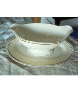 Homer Laughlin G3486 gravy boat with underplate 1 available - $15.79