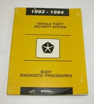 1993-1994 Chrysler Dodge Vehicle Theft Security System Manual - $11.83