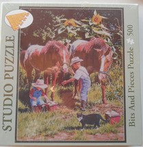 """Studio Puzzle Bits and Pieces BATH FOR TWO 500 Piece Puzzle NEW 16"""" X 20"""" 2007 - $12.99"""
