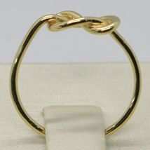 18K YELLOW GOLD INFINITE CENTRAL RING, INFINITY, SMOOTH, BRIGHT, MADE IN ITALY image 3